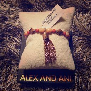 NWT Alex & Ani Coral Fringe Wrap